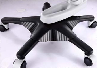 It could turn the chair 360° without moving the chair base.